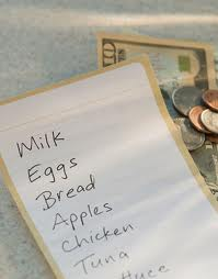 Household Budgeting Made Easier by Sticking to a List